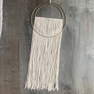 Wool and Metal Wall Hanging